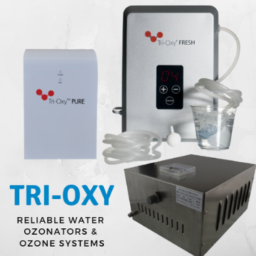 Tri-Oxy Fresh & Tri-Oxy PURE Water Ozonators
